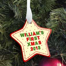 Personalised My First Christmas Decoration