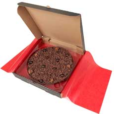 Delightfully Dark Chocolate Pizza 7""