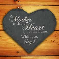 Personalised Slate Heart Keepsake-25 Cheap And Unique Mothers day present Ideas For Super Moms | Gifts Ideas For Mom
