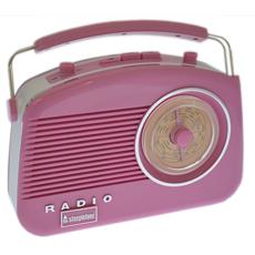Steepletone Brighton Retro Style Radio - Pink