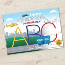 Personalised Alphabet Colouring Book