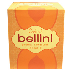 Bellini Cocktail Candle