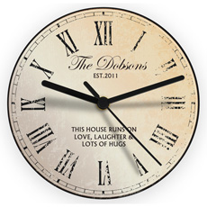 Personalised Rustic Glass Clock