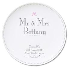 Personalised Mr & Mrs Wedding Plate