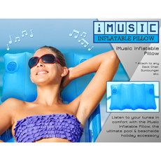 Inflatable iMusic Pillow