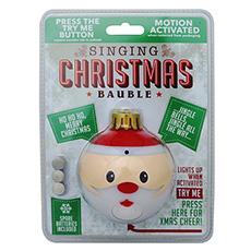Santa Singing Bauble