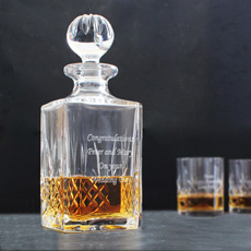Personalised Cut Crystal Decanter