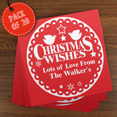 Personalised Christmas Cards - Pack of 20