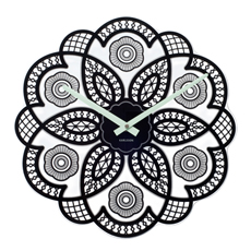 Lace Cut Out Wall Clock - Black