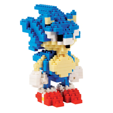 Pixelated Sonic The Hedgehog Building Bricks Kit