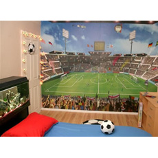 Walltastic Football Crazy Mural Wall Stickers
