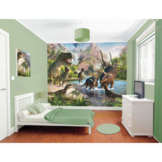 Walltastic Dinosaur Land Mural Wall Stickers