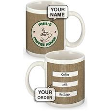 Personalised Coffee House Takeaway Mug