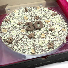 30th Birthday Chocolate Pizza - 10""