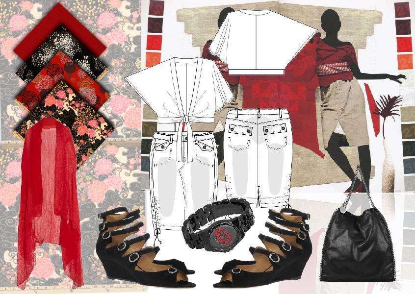 Gloria Woods\u0027s Red Fashion Moodboard moodboard