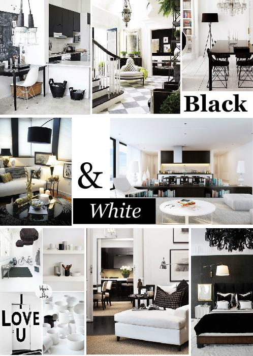 black and white inspired interior