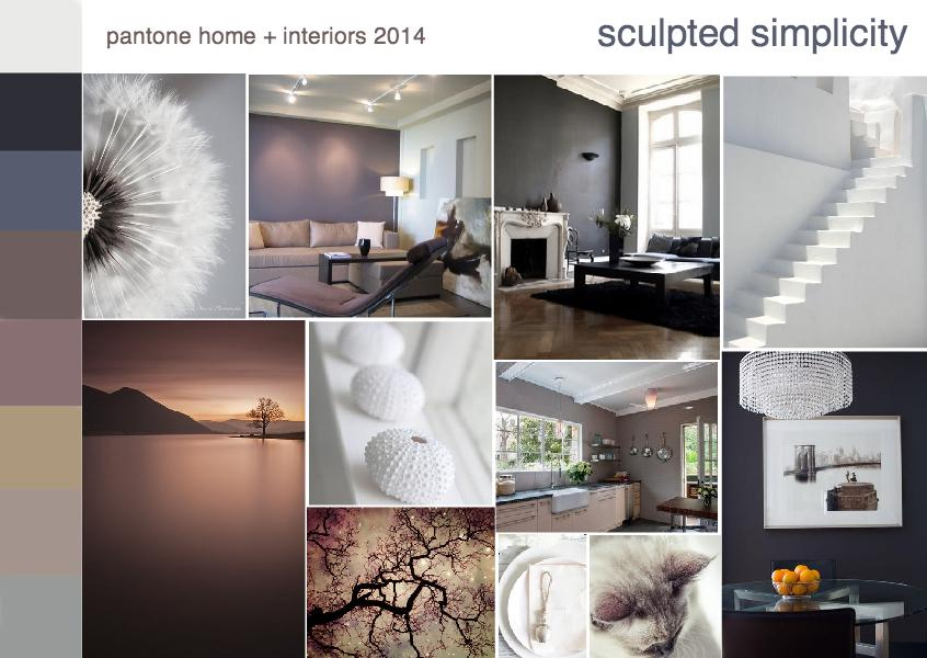 Pantone sculpted simplicity color trend