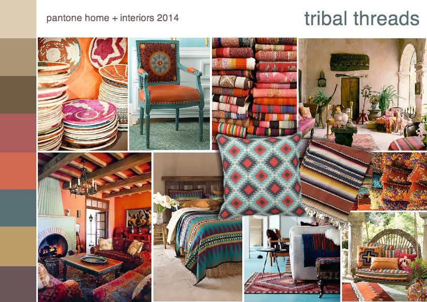 Pantone color trend tribal threads
