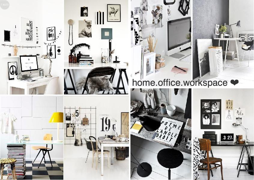 home office workspace scandi style