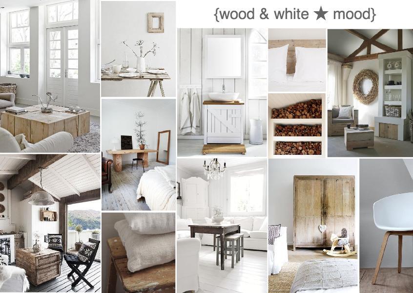 wood and white mood