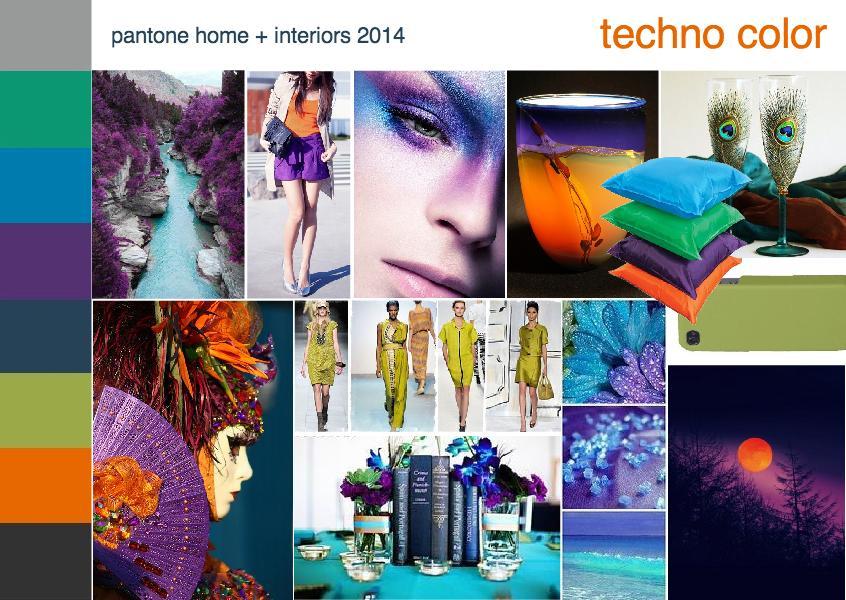 Pantone color trend techno color