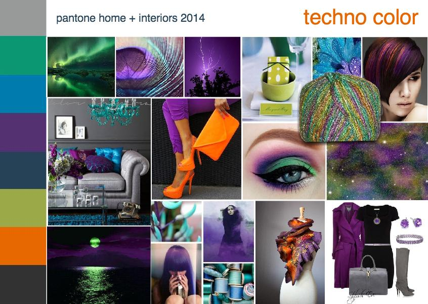 Pantone color trend techno color