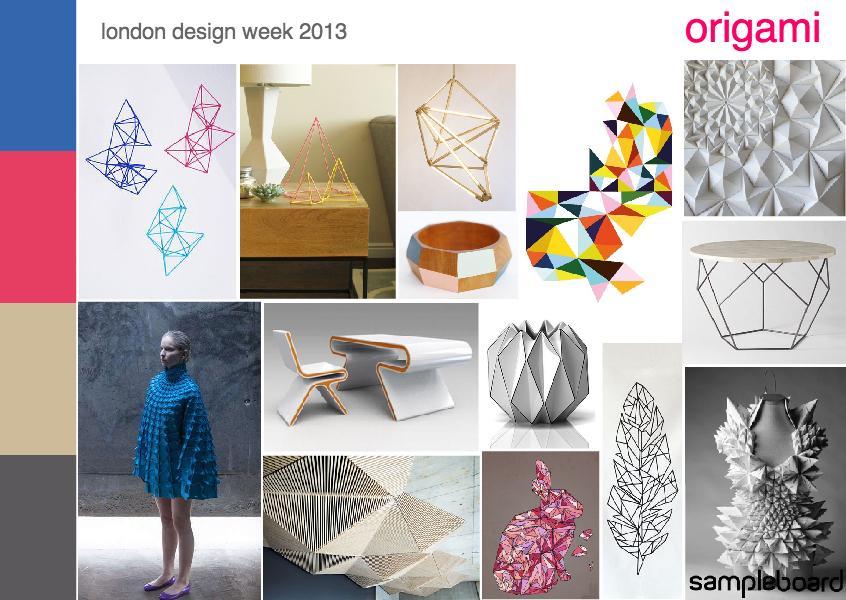 London design week 2013 | origami