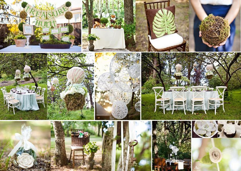 Forest inspired bridal shower