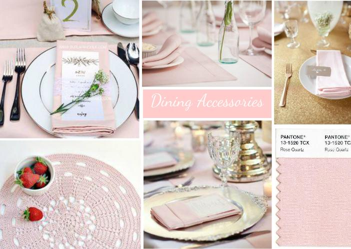 Pale Pink Dining Accessories