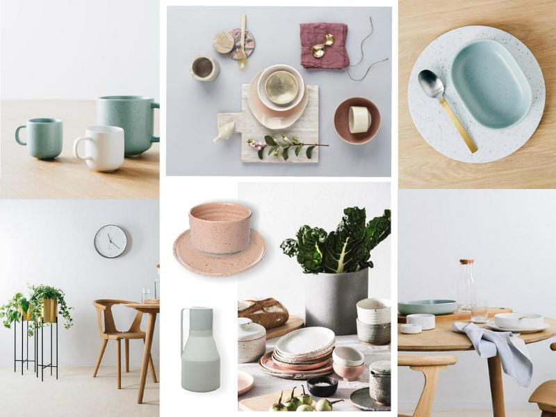 Pastel tableware for fine dining