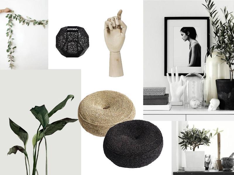 Black and White plus Greenery