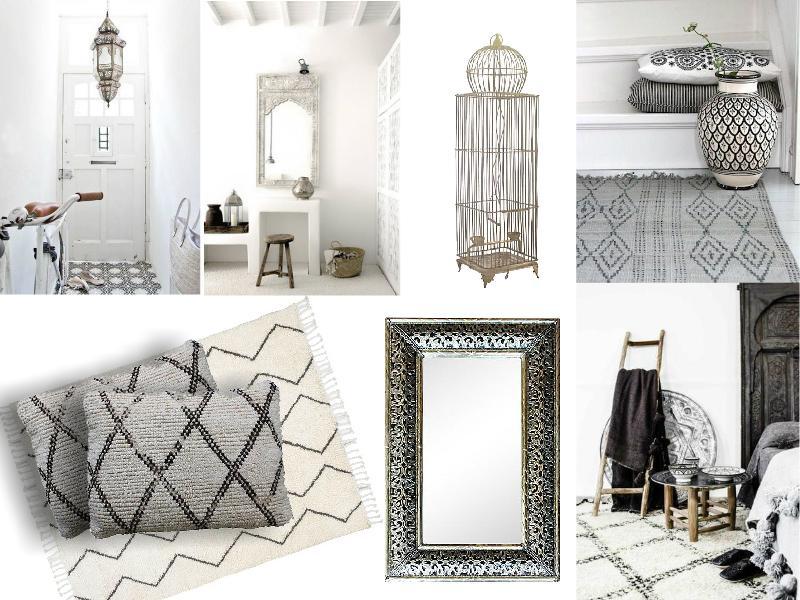 Monochrome Moroccan interiors