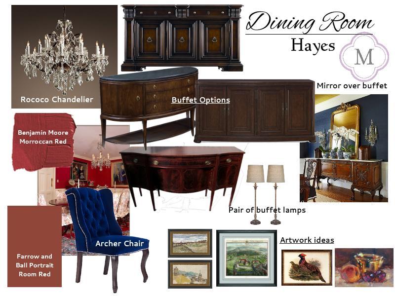 Alisha Moessner S Hayes Dining Room Moodboard Sampleboard