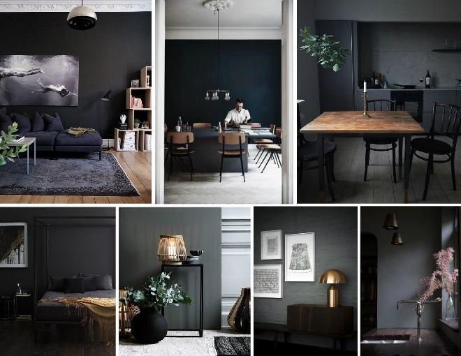 Dark and moody interiors
