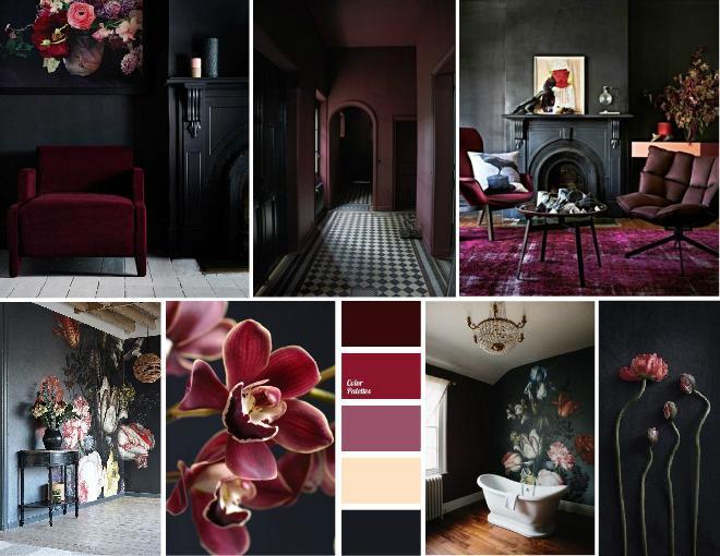 Dark and moody victorian inspired marsala