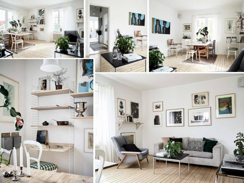 Bright and light scandi living room