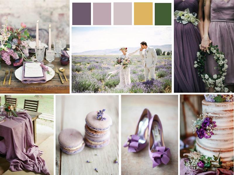 Purple Wedding Mood Board