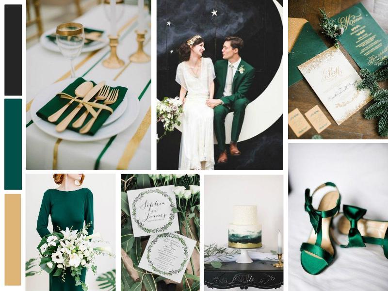 Rich Green and Emerald Wedding Mood
