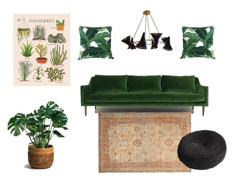 Botanical inspired living room concept