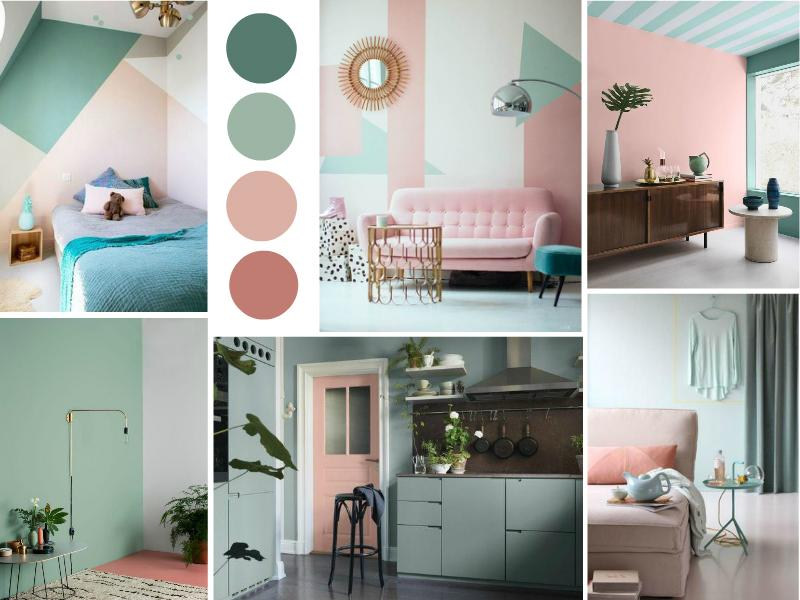 Pink and Mint Interior Trend for Summer 2017