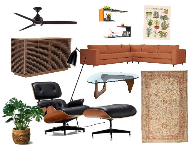 Eames lounge chair as a statement piece