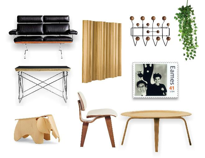 Eames furniture mood board