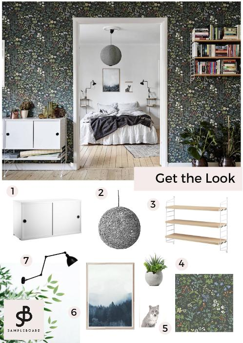 Get the Look Scandinavian Home with Bold Floral Wallpapers