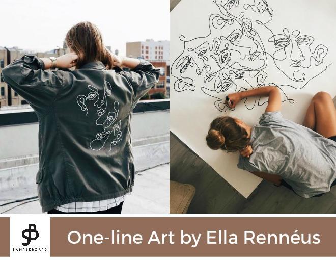 One line art by Ella Renneus