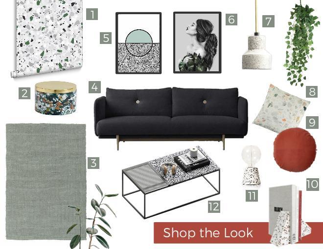 Shop the Look Terrazzo