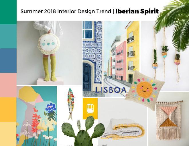 Summer 2018 interior design trend Iberian Spirit