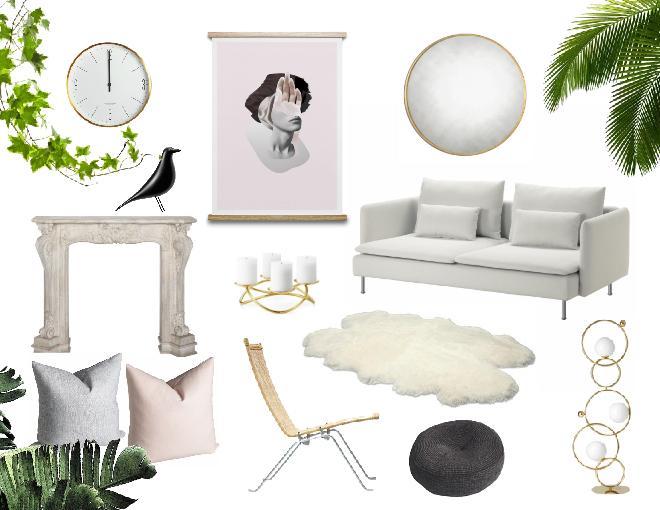 Feminine elegance living room design