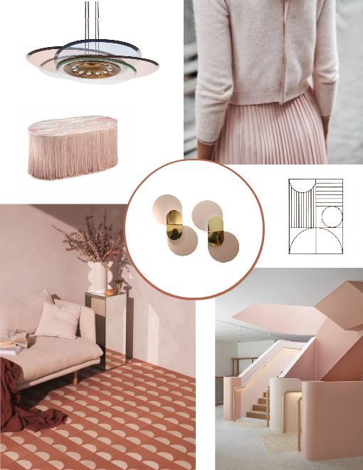 Art Deco Americana Pastel Pink