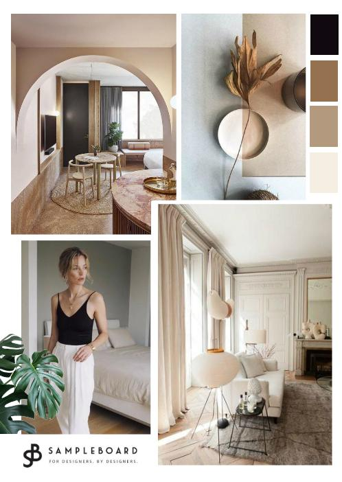 Elegant and earthy color scheme