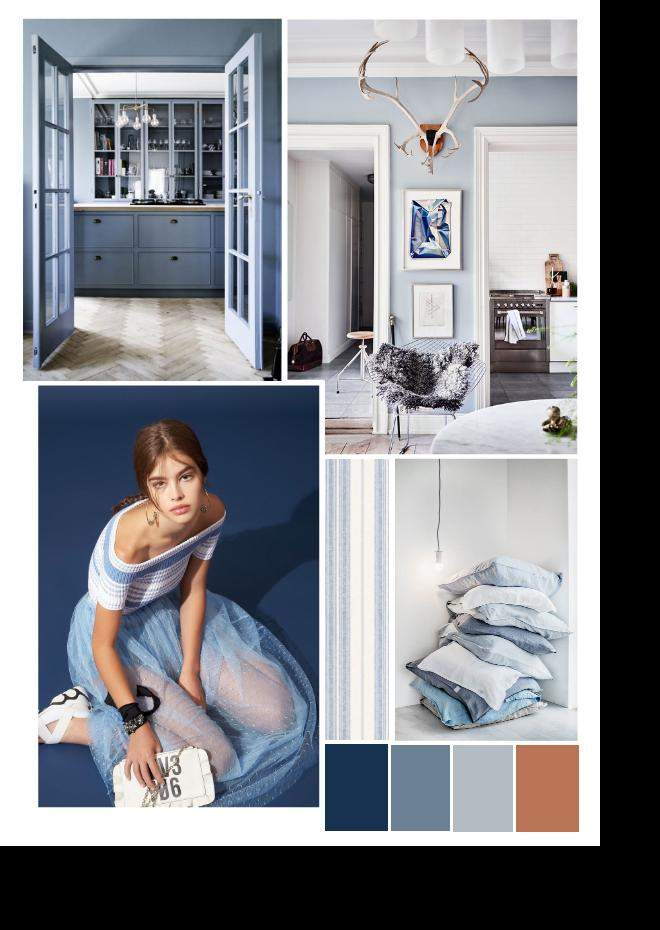 Blue interior color trend